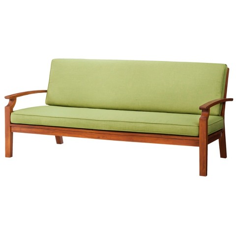 Brooks Island Wood Patio Sofa Smith & Hawken™ Tar