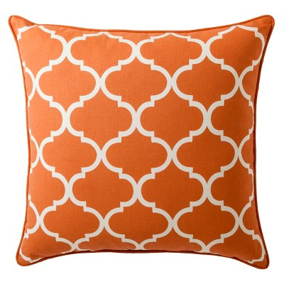 "Threshold™ Oversized Lattice Toss Pillow - Coral (24x24"")"