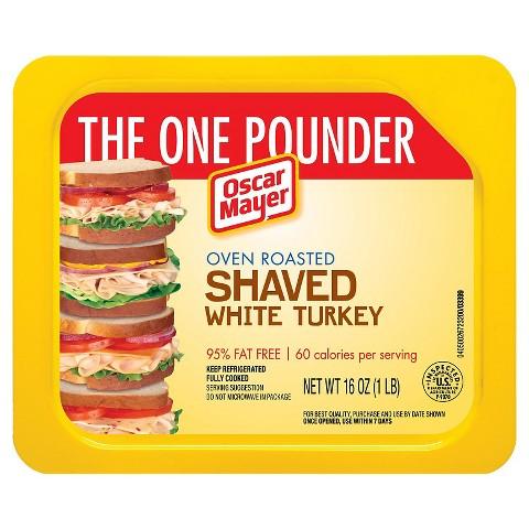 Oscar Mayer Oven Roasted Shaved White Turkey 16 oz