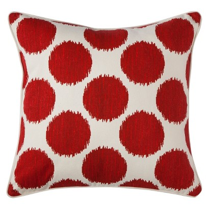 Target Red Decorative Pillows : Mudhut Dot Decorative Pillow : Target
