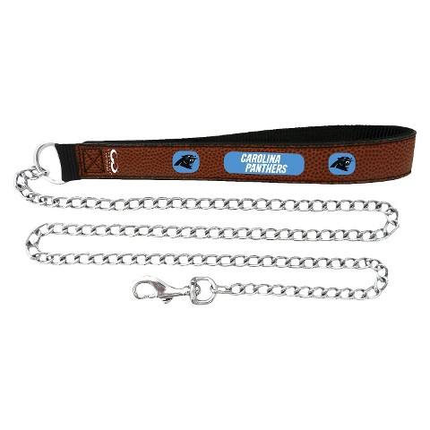 Carolina Panthers Leather Chain Leash