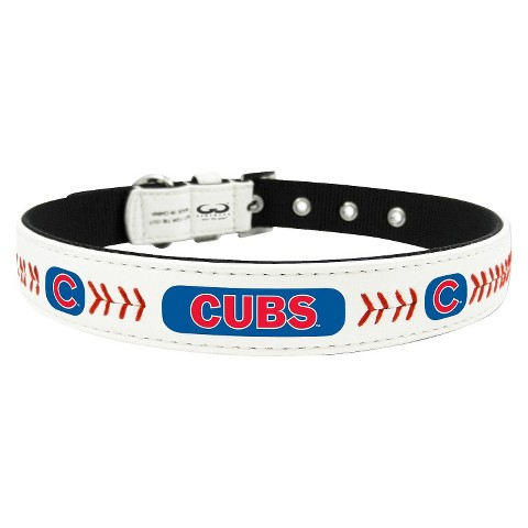 Chicago Cubs Leather Collar