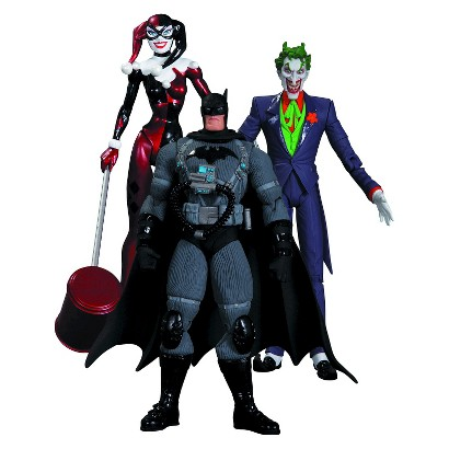 DC Collectibles Hush The Joker, Harley Quinn and Stealth Batman Action Figure Playset
