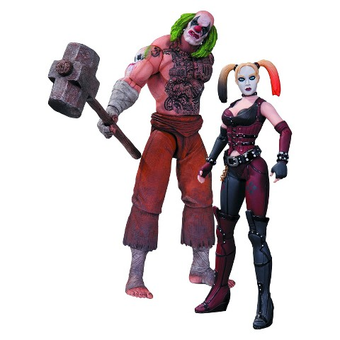 DC Collectibles Batman Arkham City -  Mr. Hammer and Harley Quinn Action Figure