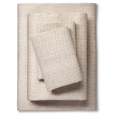 Nate Berkus™ Sheet Set - Gray Crosshatch (Full)