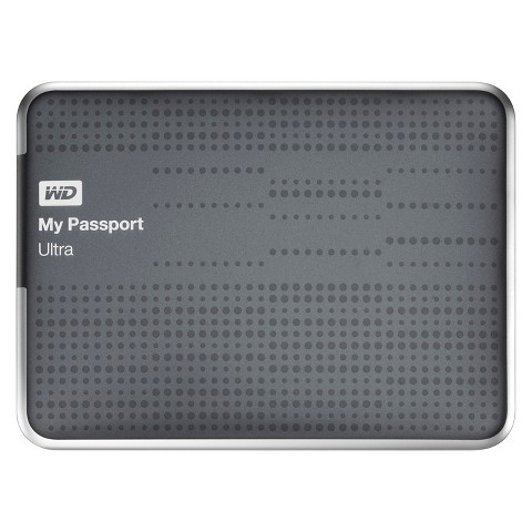 WD 1TB My Passport Ultra Hard Drive - Titanium