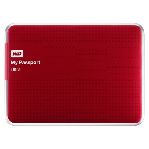 WD 1TB My Passport Ultra Hard Drive - Red