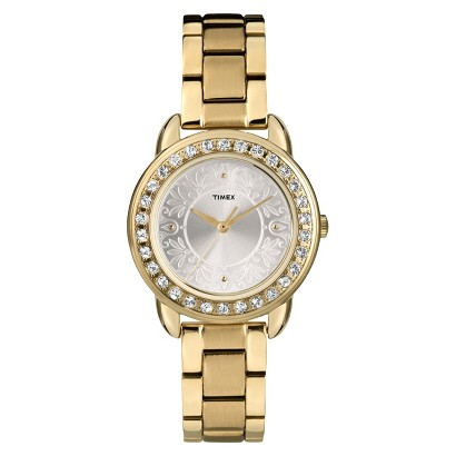 Timex Women's Ameritus Watch with Crystal Bezel - Gold