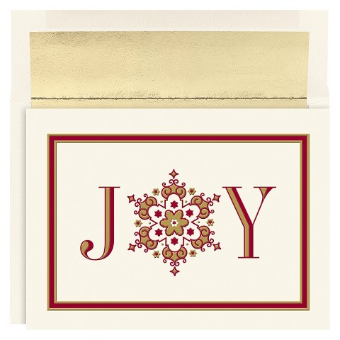 Joy Snowflake Holiday Boxed Cards (16 count)
