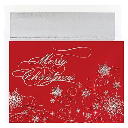 Christmas Snowflakes 16 ct Boxed Cards
