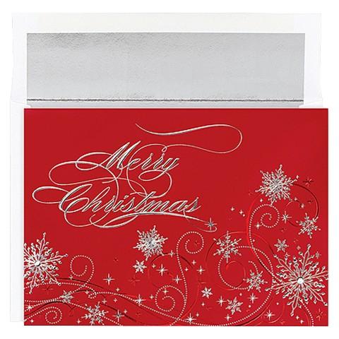 Christmas Snowflakes Holiday Box Card Set (16 count)