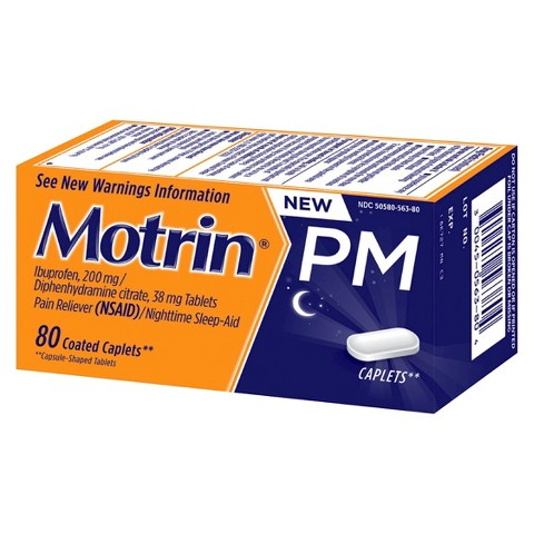 Motrin® PM Pain Reliever and Nighttime Sleep Aid Caplets