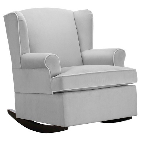 Eddie Bauer® Wingback Upholstered Rocker - Gray