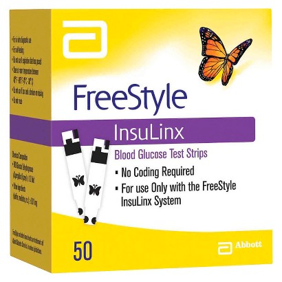 FreeStyle Insulinx Blood Glucose Test Strips - 50 Count