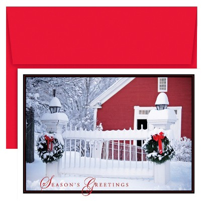 Holiday Picket Fence 16 ct Boxed Cards