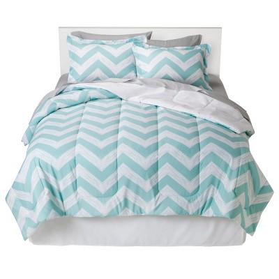 Chevron Bed In A Bag (Twin) Aqua - Room Essentials™
