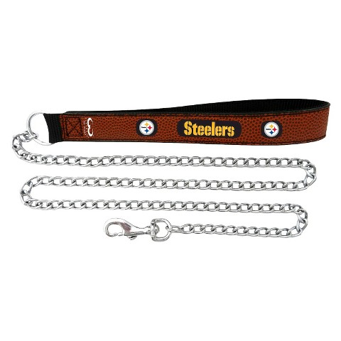 Pittsburgh Steelers Leather Leash