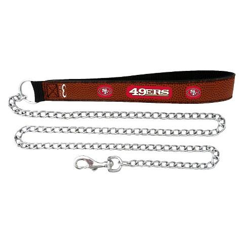 San Francisco 49ers Leather Leash