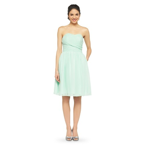 Women's Chiffon Strapless Bridesmaid Bridesmaid Dress Fashion Colors - TEVOLIO™