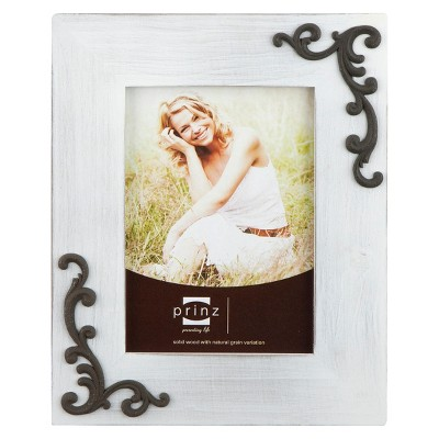 Lillie-Scrolls Wood Frame - White (8x10)