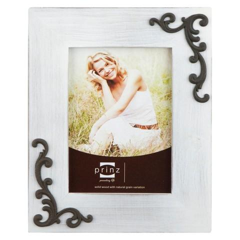 Lillie-Scrolls Wood Frame - White (8x10)