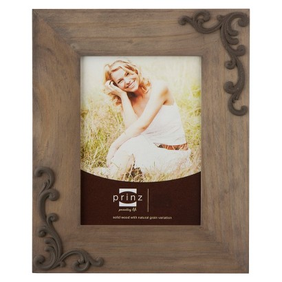 Lillie-Scrolls Wood Frame - Taupe (8x10)