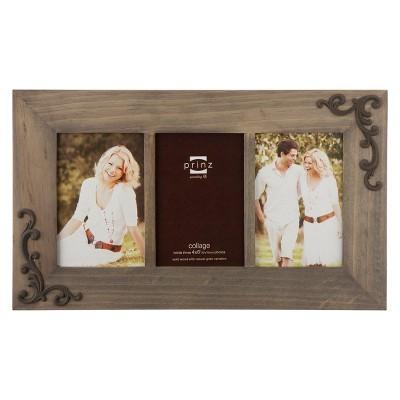 Lillie-Scrolls Wood Frame - Taupe (4x6)