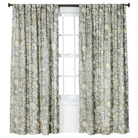 Threshold™ Jacobean Floral Curtain Panel - Gray