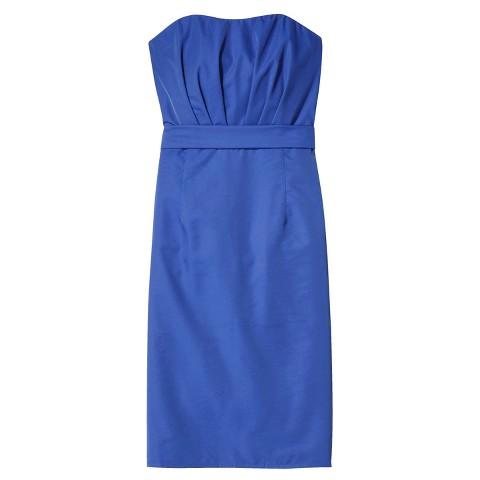 Women's Taffeta Strapless Bridesmaid Dress - TEVOLIO&#153