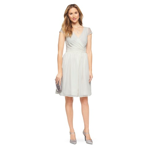 Women's Chiffon Cap Sleeve V-Neck Bridesmaid Dress Neutral Colors - TEVOLIO&#153