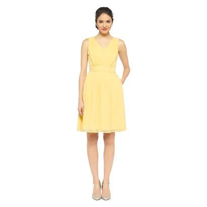 TEVOLIO™  Women's Chiffon V-Neck Pleated Dress - Fashion Colors