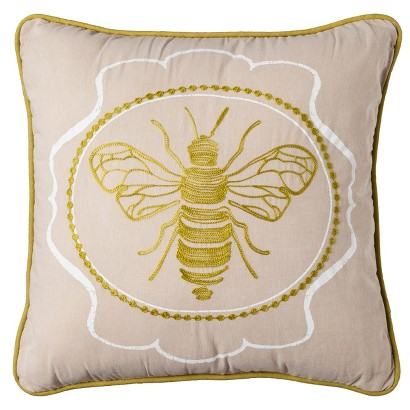 Threshold™ Embroidered Bee Decorative Pillow