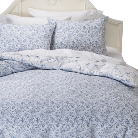 Simply Shabby Chic Batik Duvet Cover Set Indigo Full