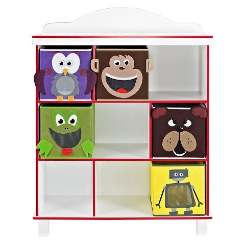 Ameriwood Industries 3 Shelf Benny Bookcase with 5 Bins