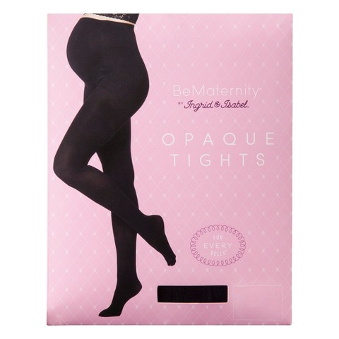 BeMaternity® by Ingrid & Isabel® Black Opaque Tights