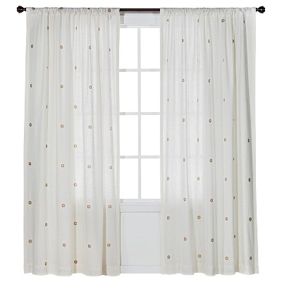 Metallic Curtain Panel Cream/Gold (54x84) - Nate Berkus™