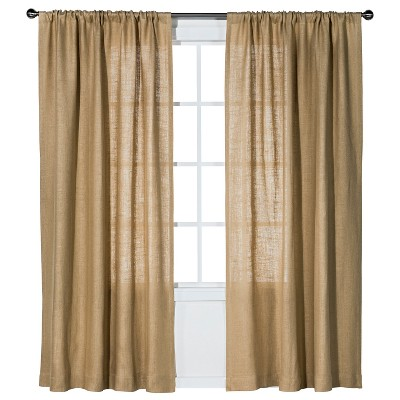 "Burlap Curtain Panel Natural (54x84"") - Nate Berkus™"