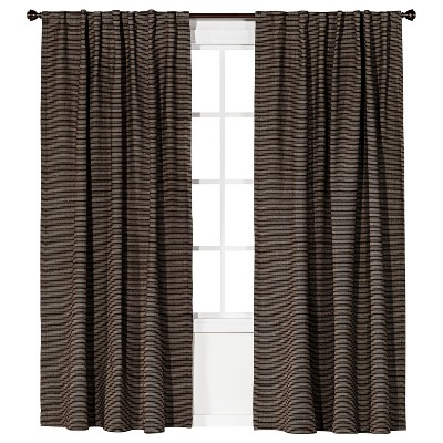 "Linen Weave Curtain Panel  Brown (54x84"") - Nate Berkus™"