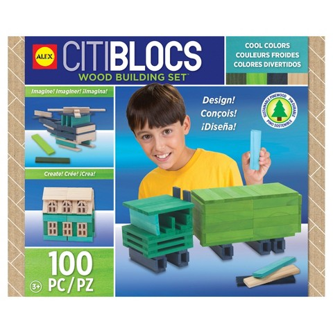 Citiblocs Cool Colors Construction Set - 100 Pieces