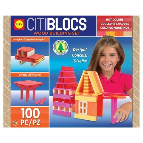 Citiblocs Hot Colors Construction Set - 100 Pieces