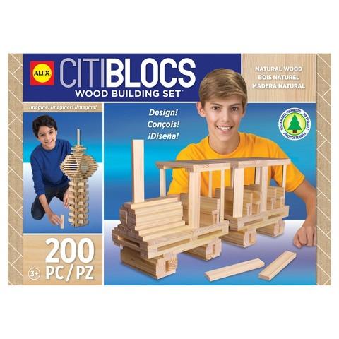Citiblocs Natural Construction Set - 200 Pieces