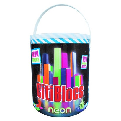Citiblocs Neon Colors Construction Set - 100 Pieces