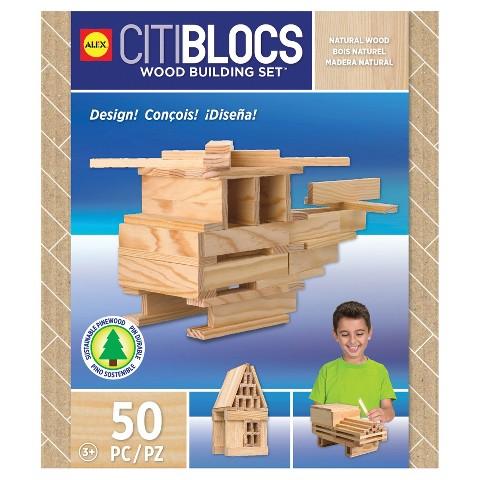 Citiblocs Natural Construction Set -  50 Pieces