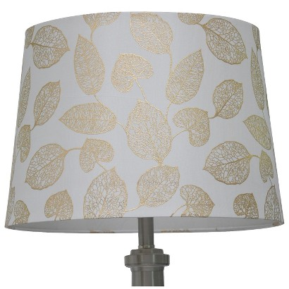 THRESHOLD™ METALLIC FOIL LEAF LAMP SHADE LARGE - SHELL/GOLD
