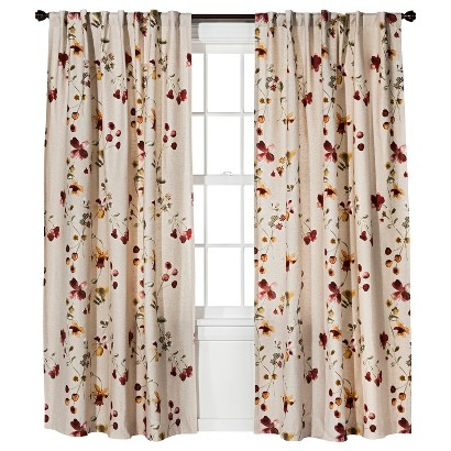 Threshold™ Watercolor Floral Curtain Panel