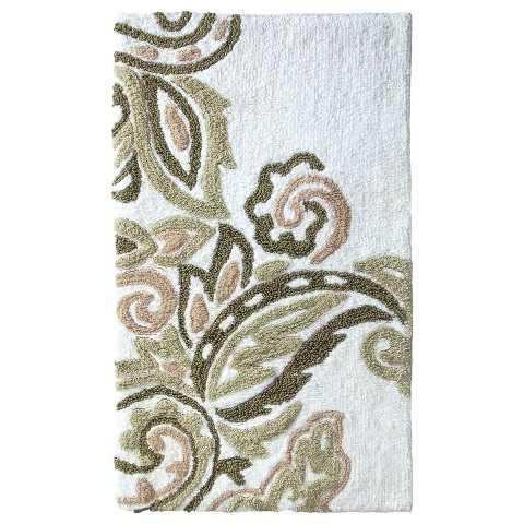 "Threshold™ 34""x20"" Textured Paisley Bath Rug"