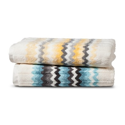 Threshold™ Watercolor Chevron Bath Towels