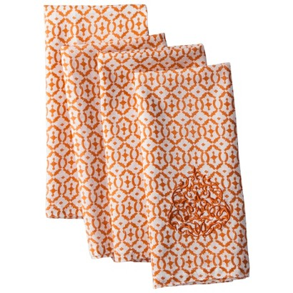Mudhut Hope Napkin Set of 4 - Orange