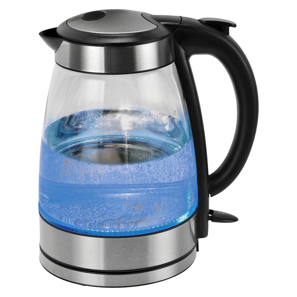 Kalorik Glass Water Kettle - Black/Stainless Steel (Silver)
