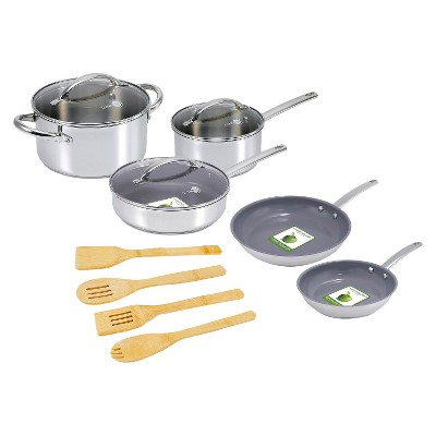 GreenPan12Pcs Miami Stainless Steel Cookware Set